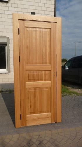 Drzwi wewnętrzne, dębowe, stylowe