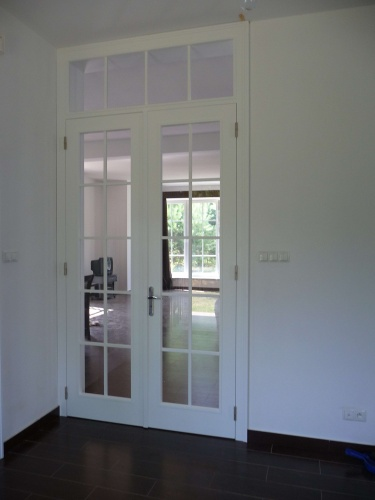 Drzwi wewnętrzne, dwuskrzydłowe z górnym doświetlem